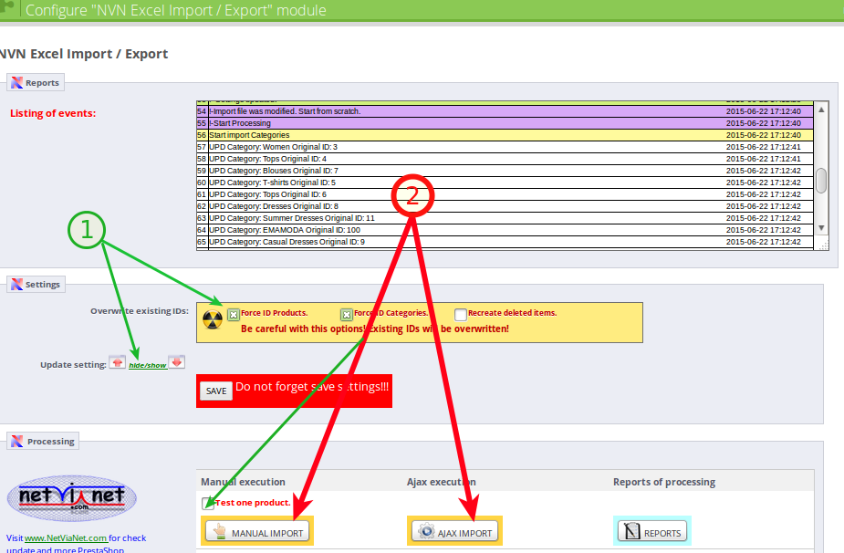 NVN import export .xlsx (MS Excel file) – import setting – PRAOTEC.COM